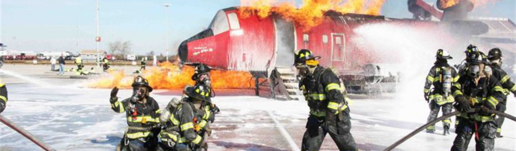 PLLFD Firefighters aeroplane fire training 1